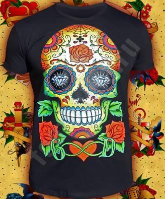 Футболка черная Sugar Skull арт 141584