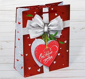 Пакет подарочный Сердце