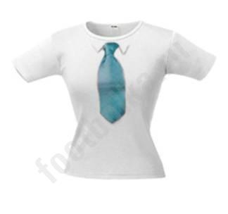 Женские футболки - Футболка женская с 3D галстуком LINE 42.