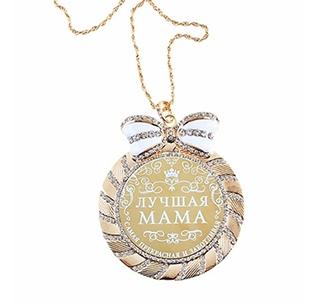 Медаль в подарочной открытке Мама стразы