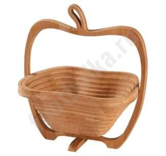 Фруктовница из бамбука Яблоко арт6375