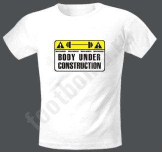 "Футболка  ""Футболка  ""Body under construction."