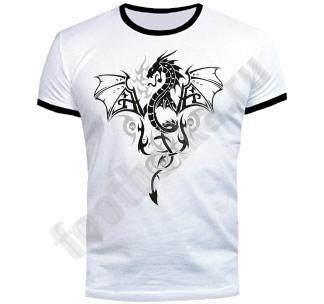Футболка FREEdom Серебряный крылатый дракон