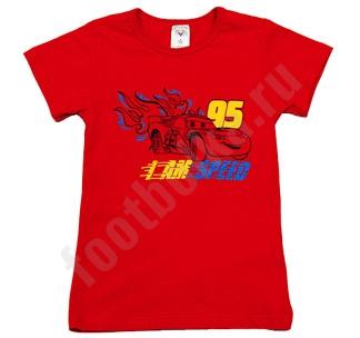 Футболка красная Тачки артB1G1CO5