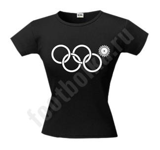Футболка женская Олимпиада 2014 кольца