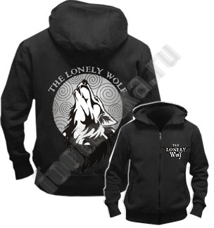 Толстовка на молнии Freedom Одинокий волк
