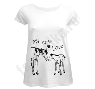 Футболка для беременных My Little Love лошадь