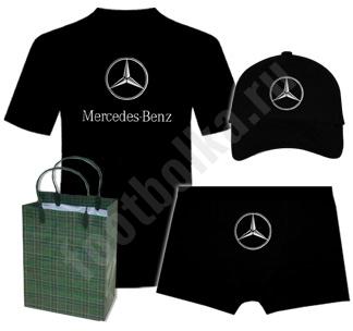Набор с автомобильным логотипом Мерседес на заказ