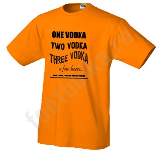 Футболка One Vodka Two Vodka