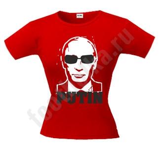 Футболка женская Путин 007