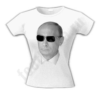 Футболка женская Путин в очках
