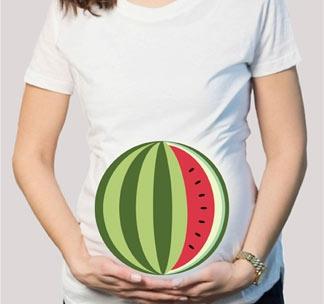 Футболка для беременных Арбуз