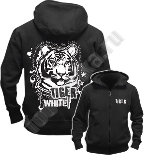 Толстовка на молнии Freedom White Tiger