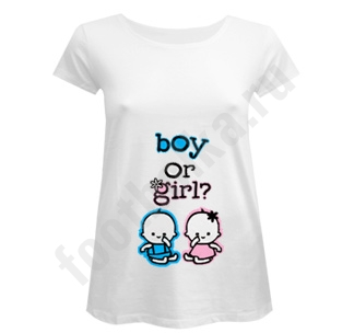 Футболка для беременных Boy or Girl
