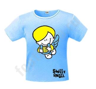Футболка детская Sweet angel boy голубая