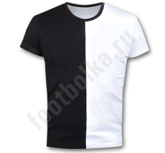 Мужская футболка стрейч чернобелая