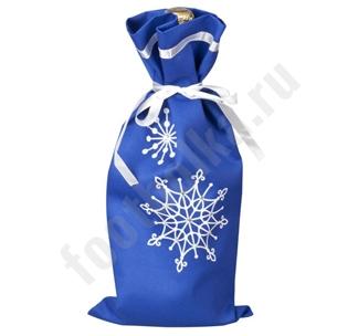 Чехол для шампанского Снежинки арт 2184