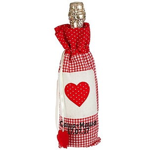 Чехол для бутылки Сердце Ваши имена и дата