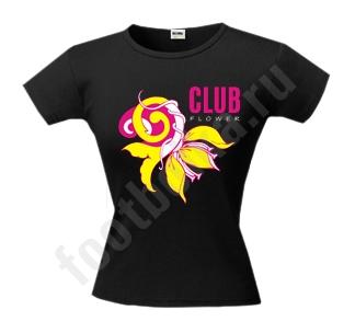 Футболка Club flower светится в УФ