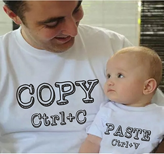 Футболки для папы и ребенка Copy Paste