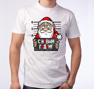 Футболка Дед Мороз заключенный