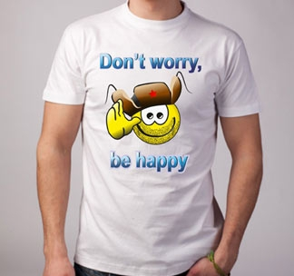 Футболка Don t worry be happy