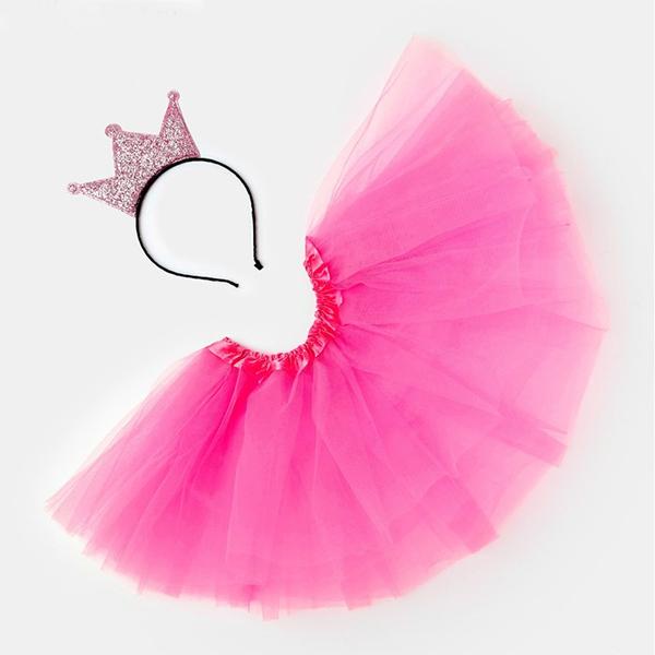 """Набор """"Маленькая принцесса: юбка, повязка"""" розовый фото 1"""