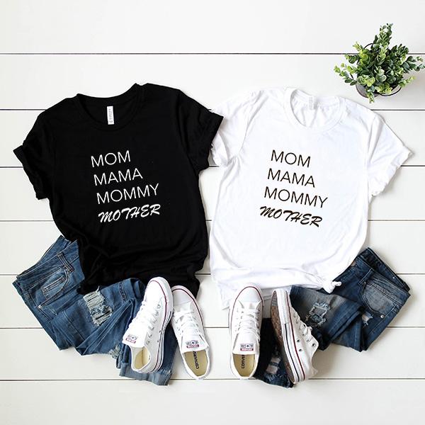 "Футболка ""Mom Mama Mommy Mother"" alex фото 1"