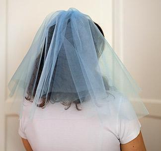 Фата для девичника (голубая)