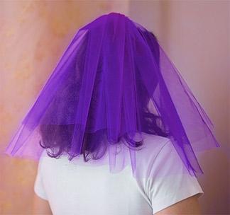 Фата для девичника фиолетовая
