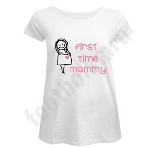 Футболка для беременных First time mommy SALE