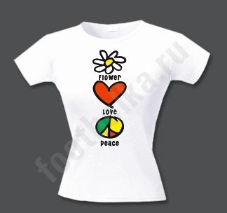 Футболка Flower Love Peace