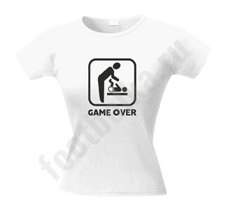 Футболка женская Game over baby