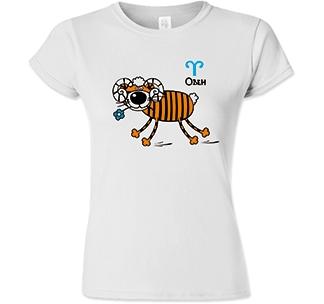 Футболка женская знак зодиака Овен тигр