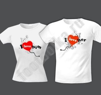 ...и сделать парные футболки с надписями, нравиться 3 варианта...