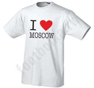 Футболка I love Moscow