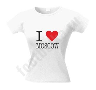 Футболка женская I love Moscow