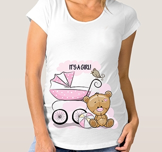 Футболка для беременных It s a Girl коляска