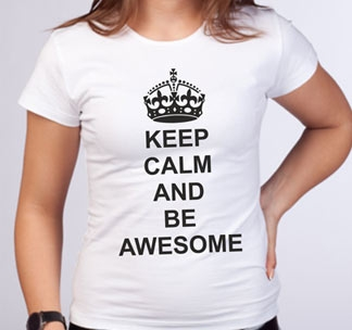 Футболка Keep calm and be awesome