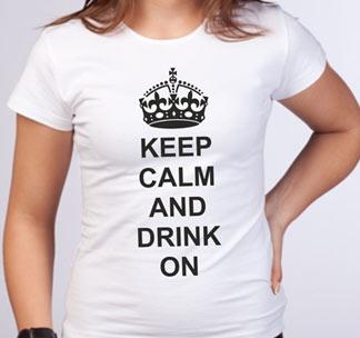 Футболка Keep calm and drink on