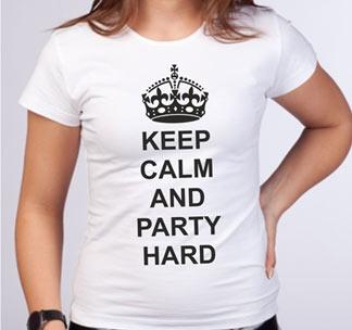 Футболка Keep calm and party hard