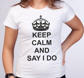 Футболка Keep calm and say i do