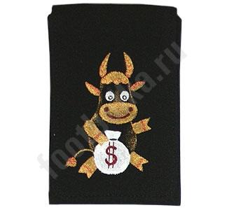 Чехол для мобильного Корова с мешком