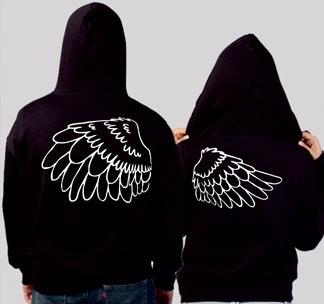 Парные толстовки Крылья