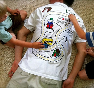 Массажная футболка для папы