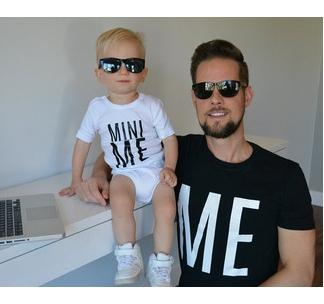 Футболки для папы и сына Me and Mini me
