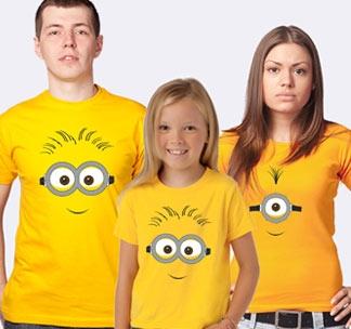 Семейные футболки с Миньонами