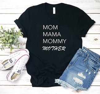 Футболка Mom Mama Mommy Mother alex
