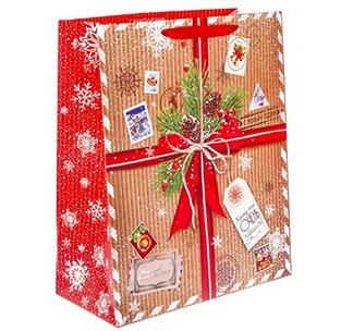 Большой подарочный пакет Новогодний подарок