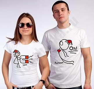 Парные футболки Магнит новогодние